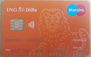 ING DiBa Bankomatkarte