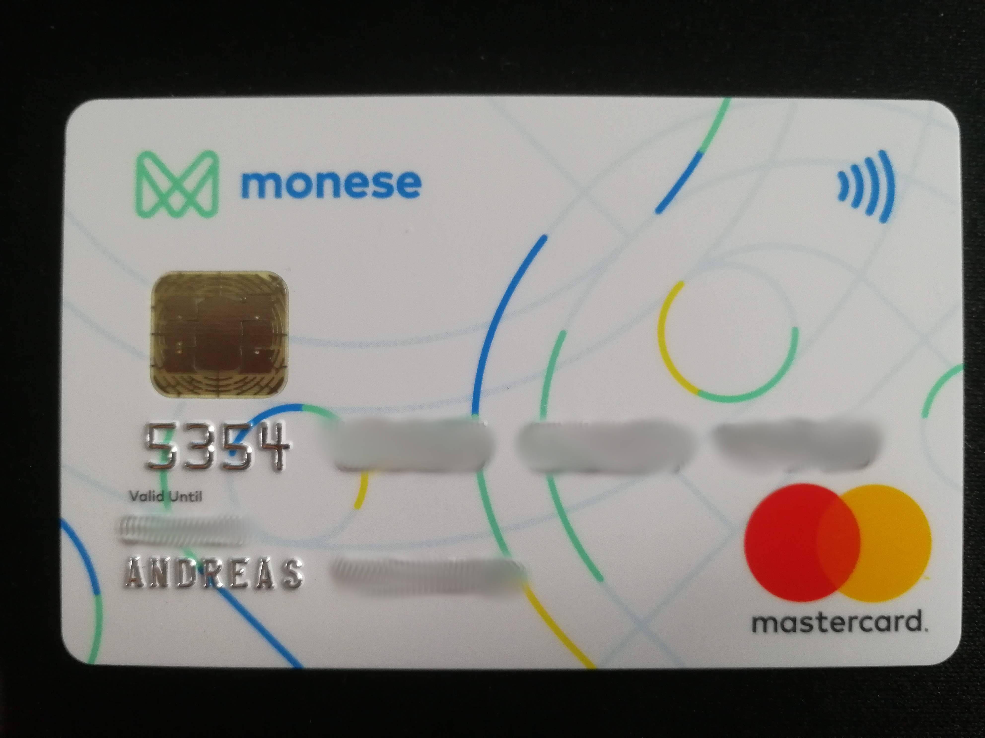 Monese Kreditkarte