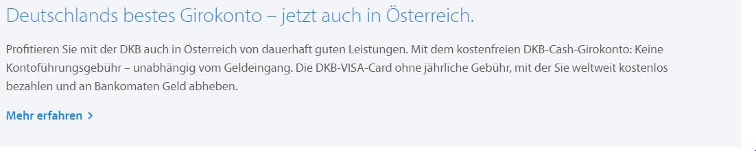 Dkb In österreich Jetzt Geht Es Wieder Los Gratis Konto