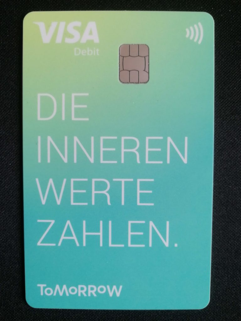 Die Tomorrow Visa Karte