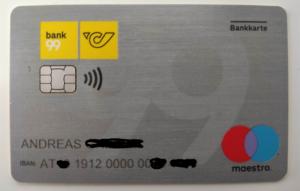 Bank99 Bankomatkarte