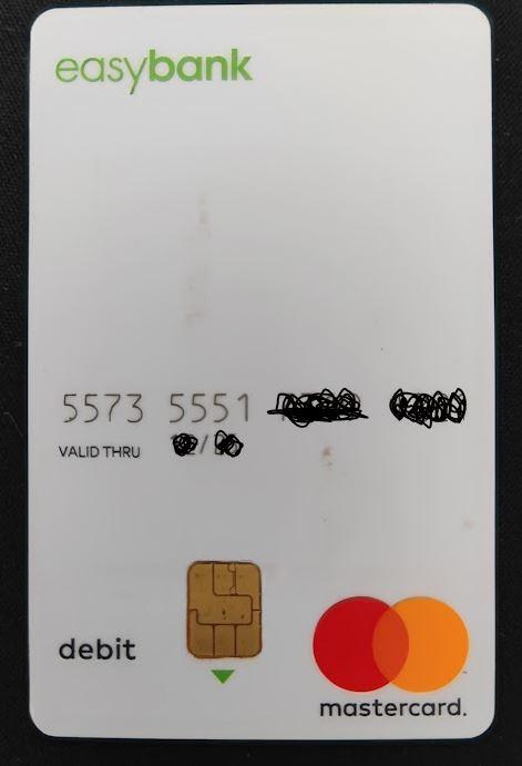 Easybank Mastercard Debitkarte